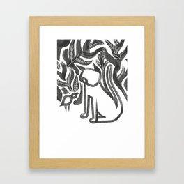 Bird and Cat Framed Art Print