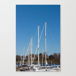 Boats in Southport Canvas Print