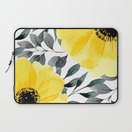Big yellow watercolor flowers Laptop Sleeve