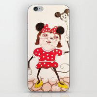 minnie iPhone & iPod Skins featuring Minnie  by ZarsStudio