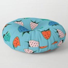 strawberry blue Floor Pillow