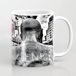 Thierry Henry Statue Emirates Stadium Art Coffee Mug