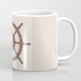 AFE Nautical Helm Wheel - Brown Coffee Mug