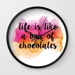 Box of chocolates Wall Clock
