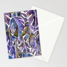 Split Leaf Philodendron – Purple Stationery Cards