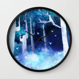Forest of Fireflies Wall Clock