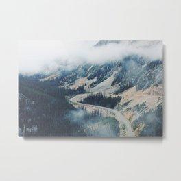 Mountain Loops Metal Print