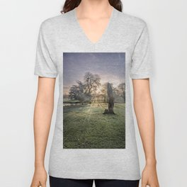 Morning Sun At Leeds Unisex V-Neck