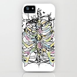 Skeleton of a human thorax iPhone Case