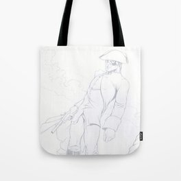 Dick Turpin pencil art Tote Bag