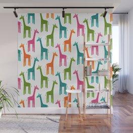 Giraffes-Multicolor Wall Mural