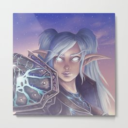 Night Elf Warrior Metal Print