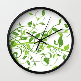 Leaves PNG Wall Clock