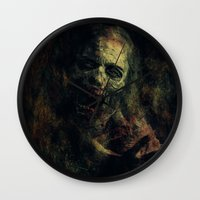 zombie Wall Clocks featuring Zombie by Sirenphotos