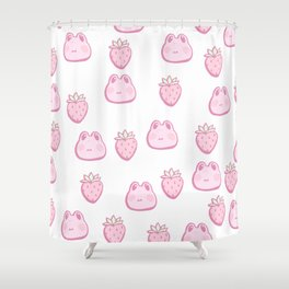 Strawberry Frog Shower Curtain
