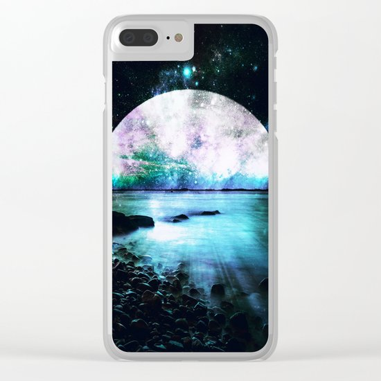 Mystic Lake Teal Violet Clear iPhone Case