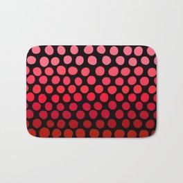 Juicy Red Apple Ombre Dots Bath Mat