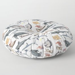 Marine wildlife Floor Pillow