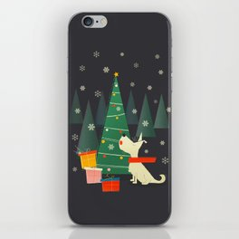 Little White Christmas Westie iPhone Skin