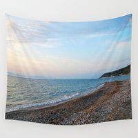 greek Wall Tapestries featuring Greek Beach by M. Gold Photography