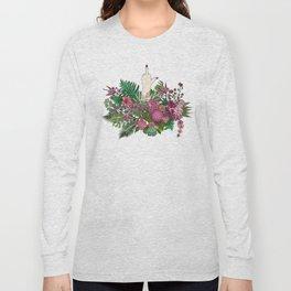 Botanical Bird Bouquet Long Sleeve T-shirt