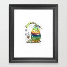 Adventure time Totoro by Luna Portnoi Framed Art Print