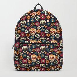 Day Of The Dead Pattern | Dia De Los Muertos Skull Backpack
