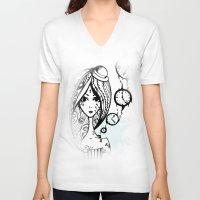 watch V-neck T-shirts featuring watch by DanilaTrubarova