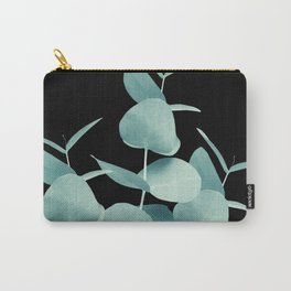 Eucalyptus Leaves Green Black #1 #foliage #decor #art #society6 Carry-All Pouch