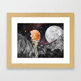 MoonBathing Framed Art Print