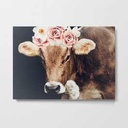Glamour cow Metal Print