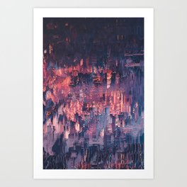 Through the fire Art Print