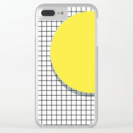 Memphis Yellow Clear iPhone Case