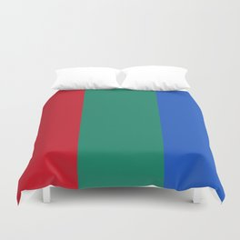 Flag of planet Mars Duvet Cover