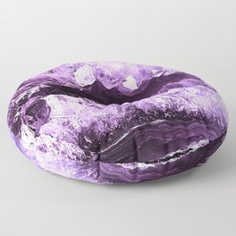 Amethyst Crystal Cave Floor Pillow