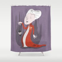 dracula Shower Curtains featuring Dracula by Rod Perich