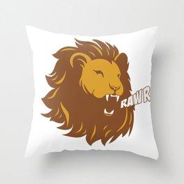 Rawr Lion Throw Pillow
