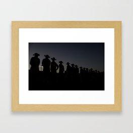 Riders Framed Art Print