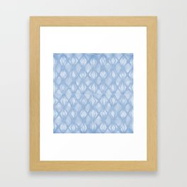 Braided Diamond Sky Blue on Lunar Gray Framed Art Print