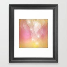 The Sound of Light and Color - pink & honey Framed Art Print