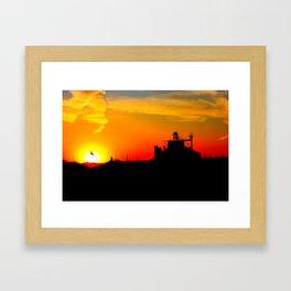 kansas sunset Framed Art Print