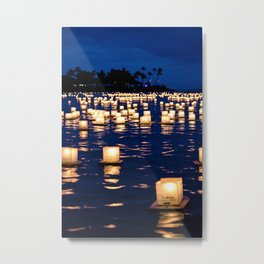 floating lanterns Metal Print