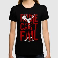 Rudie Can't Fail Womens Fitted Tee SMALL Black