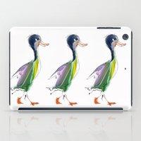 duck iPad Cases featuring duck by tatiana-teni