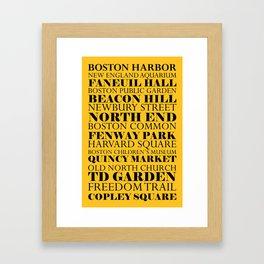 Boston Landmarks Sports Framed Art Print