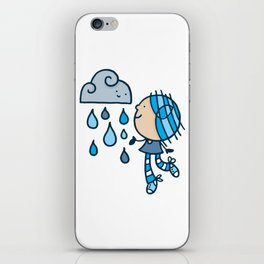 Rain Cloud Girl iPhone Skin
