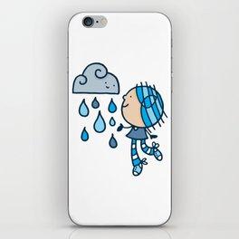 Rain Cloud Girl iPhone Skin