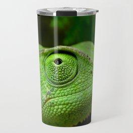Green chameleon Travel Mug