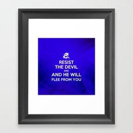 Resist the Devil - Bible Lock Screens Framed Art Print