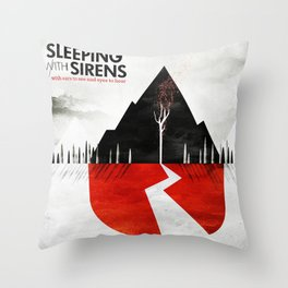 sleeping with sirens ears to see 2021 Throw Pillow